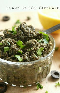 Black olive tapenade - perfect stirred through pasta, dolloped on soup, spread on toast, and a million other ways! #vegan