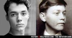 The Imitation Game star Jack Bannon next to Christopher Morcom, Alan Turing's friend who died of bovine tuberculosis. See more pics here: http://www.historyvshollywood.com/reelfaces/imitation-game/