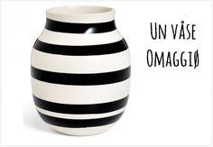 vase rayé noir et blanc marque déco scandinave