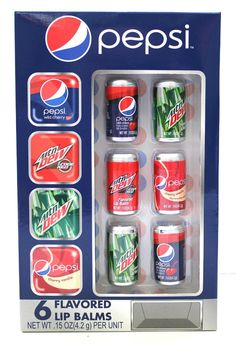 Check out Pepsi 6 Piece Soda Can Lip Balm - ShopYourWay
