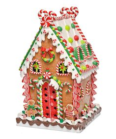 caffco - Tall Gingerbread House Figurine