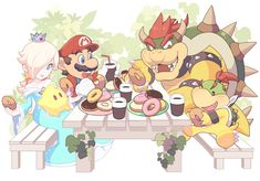 "⭐️✨🥐 en Twitter: ""ドーナツパーティ〜… "" Super Mario Bros, Super Mario Kunst, Super Mario Games, Nintendo Super Smash Bros, Super Mario World, Super Mario Brothers, Mario Bros., Mario Party, Mario And Luigi"