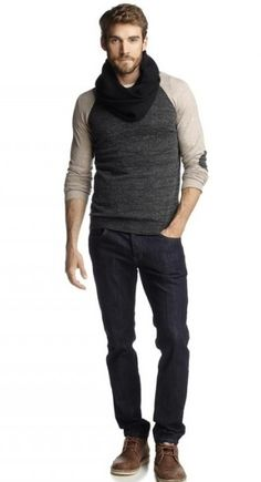 Esprit Dark Jeans Holiday 2012 Collection. I'll take the clothes and the guy in the clothes please
