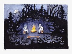 Campfire Stories by MaryDoodles on deviantART