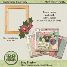designer freebie gift featuring PattyB Scraps SOMEWHERE IN TIME at Go Digital Scrapbooking.  Collect the freebie at my blog http://pokisproject2.blogspot.com/