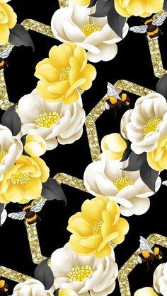 By Artist Unknown. Flowery Wallpaper, Flower Phone Wallpaper, Wallpaper For Your Phone, Animal Wallpaper, Pattern Wallpaper, Screen Wallpaper, Wallpaper Backgrounds, Wallpaper Ideas, Best Iphone Wallpapers