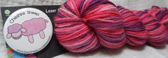 Self Striping Sock Yarn  Merino Nylon blend in by LazerSheepYarns, $12.00