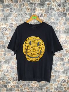 17a6ecebbae6a BOUNTY HUNTER Tshirt Medium Bounty Hunter Japan Smiley Grunge Nirvana Style  Vintage 90s Black Tshirt Size M