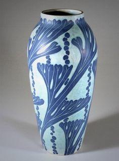 Josef Ekberg (1877 – 1945), Gustavsberg, Vase, Glaze Decorated Ceramic.