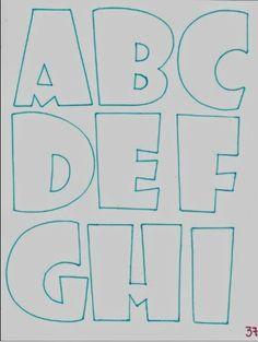 Patrones de Letras en fomy ✿⊱╮ Bubble Letter Fonts, Alphabet Templates, Letter Stencils, Halloween Quotes, Alphabet And Numbers, Brush Lettering, Coloring Pages, Graffiti, Printable Numbers