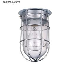 #Ebay #Caged #Light #Fixture #Industrial #Metal #Ceiling #Outdoor #Flush #Mount #Indoor #Exterior #Canarm #Traditional