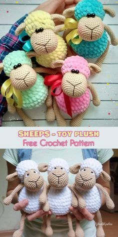 Sheeps - Toys Plush - Amigurumi [Free Crochet Pattern] softie Source by This time sheep, another amigurumi project to your collection. We guarantee most popularity of below models, simple is the best of the best. Crochet Amigurumi Pink Bunny D doll spain Crochet Animal Patterns, Crochet Patterns Amigurumi, Crochet Dolls, Crochet Stitches, Knitting Patterns, Crochet Sheep Free Pattern, Knitting Toys, Sewing Patterns, Free Knitting