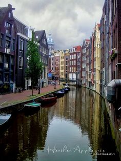 Amsterdam canal... Apparently much cleaner than Venice :-)