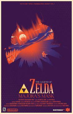 Majoras Mask Legend of Zelda minimalistic poster