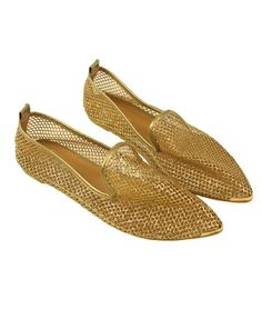Vintage golden mesh point flat shoes - I'm not sure what I would wear these with, but they're really cute.