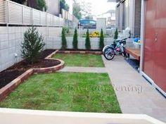 庭 芝生 アプローチ 石貼り ラジャスターン