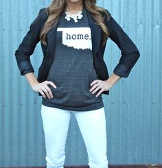 Oklahoma home tee proceeds to benefit tornado by InspiredByHenlee Sassy Hair, Playing Dress Up, Simply Beautiful, Chic, Going Out, Winter Outfits, What To Wear, Style Me, Graphic Sweatshirt