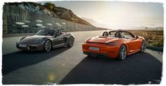 The Porsche 718 Boxster: The legend lives on and with it the will to excel beyond standards. And to convince.—For the sport of it. The new 718 Boxster.