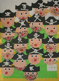 Nancy Nolan's Kindergarten: Pirate faces and activities.
