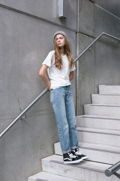 Love this tomboyish look. The Vans and the beanie makes it look like an outfit you stole from your man's wardrobe. Vans: http://asos.do/eg8oc7 Beanie: http://asos.do/nMRxV6 Jeans: http://asos.do/ikjCGr T-shirt: http://asos.do/8rZoVa