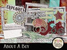Kids Digital Scrapbook Kit Clipart - About A Boy - Kids Play Digital Scrapbooking Kit Clip Art & Embellishments, Children Digital Kit Kids Digital Scrapbook Kit Clipart About A Boy by ClikchicDesign Kids Scrapbook, Scrapbook Paper, Carnival Background, Digital Scrapbooking Freebies, Digital Papers, Kits For Kids, Elements Of Art, Word Art, Altered Art