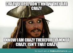 crazy, funny, jack sparrow, johnny depp, lol, pirate, pirates of the caribbean