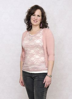 Michelle is casually romantic true to her Type 2 beauty. She's looking dreamy in her Love Is In Bloom top, Peach Beige Cardigan, We Bow Together Necklace, and her Tiers of Joy Earrings. Get Michelle's elegant Type 2 look at http://dyt.liveyourtruth.com/store/type2