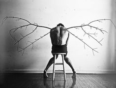 Fallen Angel -- self portrait by Christian Hopkins