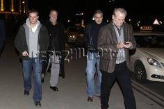 George Clooney, Matt Damon, John Goodman, And Bill Murray go out to dinner in Berlin.