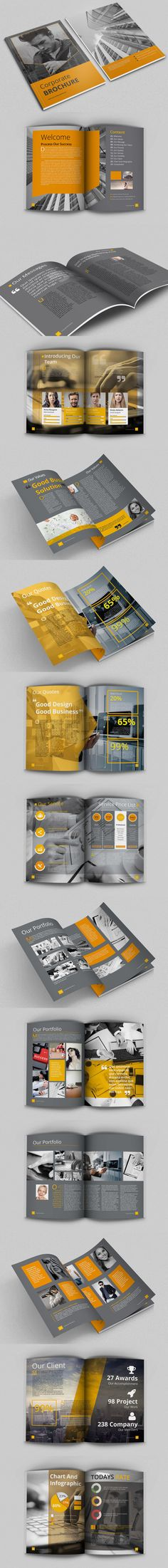 Multipurpose / Corporate Brochure Template InDesign INDD - A4 And Letter Size