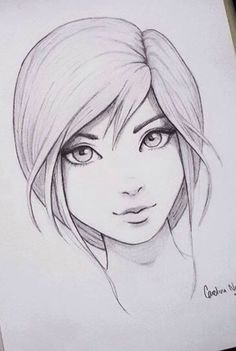 grafika drawing, art, and girl Amazing Drawings, Cool Drawings, Amazing Art, Awesome, Pencil Art Drawings, Drawing Sketches, Sketching, Manga Girl Drawing, Drawing Eyes