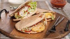 Receta de Bruno Oteiza de kebab de pescado. Se trata de una alternativa al típico kebab de carne, con merluza como ingrediente principal.