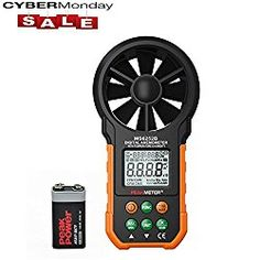 SynkTech MS6252B Digital Anemometer Wind Speed Air Volume Measurement USB Data uploading Air Humidity Flow Meter Anemometer