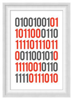Printable Poster: I Love You in Binary
