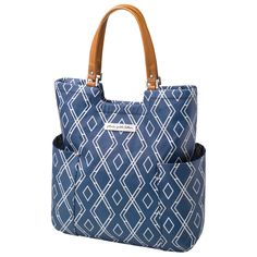 Petunia Pickle Bottom Diaper Bag Mod Collection Tailored Tote Indigo #laylagrayce