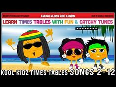 Times Tables Songs 2 to 12 (Kool Kidz) Learn with Fun & Catchy Tunes! Times Tables, Multiplication And Division, Learning Time, Maths, Songs, Confirmation, Youtube, Bedrooms, Channel