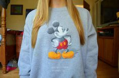 Mickey Mouse sweatshirt. ♡ Must have this.