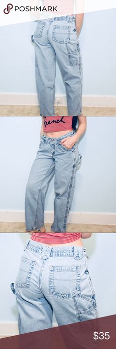 Vintage 90's LA Blues Carpenter Jeans These jeans are soo 90's and so cool. I offer discounts on vintd as they don't charge you to sell. My username is amberstasky. Vintage Jeans