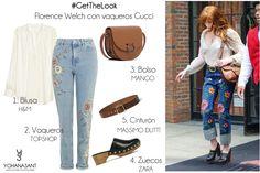 Florence Welch con vaqueros Gucci www.yohanasant.es Asesora de Imagen & Personal Shopper en Asturias #Asesoradeimagen #Personalshopper #YohanaSant #Look #AsesoradeimagenAsturias #PersonalShopperAsturias #FashionStylist #ImageConsultant #GetTheLook #ItGirl