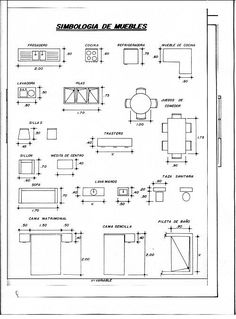 Blueprint the meaning of symbols ww references pinterest medidas de muebles para planos arquitectonicos malvernweather Image collections