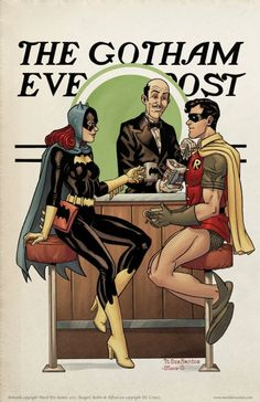 norman rockwell halloween pictures | Norman Rockwell's Gotham City [Pics] | Geeks are Sexy Technology ...