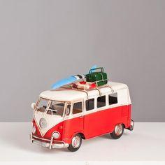 Miniatura Perua Kombi VW - Vermelha - Machine Cult - Kustom Shop | A loja das camisetas de carro e moto