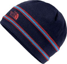 The North Face Girl's Logo Beanie Cosmic Blue/Tnf Red S