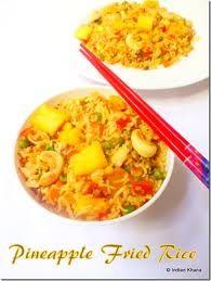 Vegetarian pineapple fried rice.