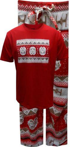 WebUndies.com Star Wars Christmas Storm Trooper Ugly Sweater Pajama