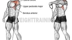 Cable one-arm front raise exercise