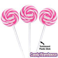 Swipple Pops Petite Swirly Ripple Lollipops - Pink Strawberry