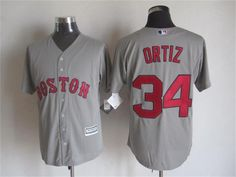 Boston Red Sox #34 David Ortiz Away Gray 2015 MLB Cool Base Jersey