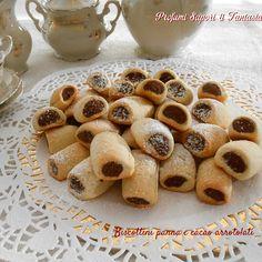 Biscottini panna e cacao arrotolati
