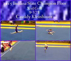 2015 Indiana State Floor Champion, Cassidy! From Rising Star Gymnastics. So proud of you! On to Region 5 Regionals!